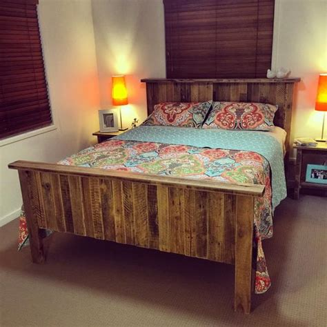 Size Pallet Bed Plans by Size Solid Rustic Pallet Bed Shipping Not Included