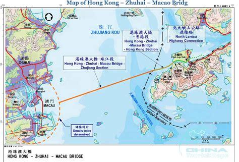 world hong kong zhuhai macao bridge map