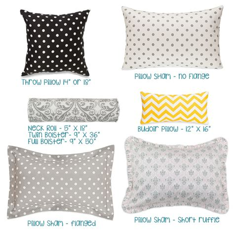Types of Pillow Shams & Accessories   Bedding for Bunks