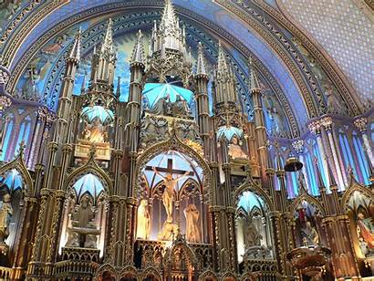 Dame Notre Basilica Cathedral Montreal Canada Church