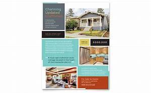 rental property flyer template - craftsman home flyer template design