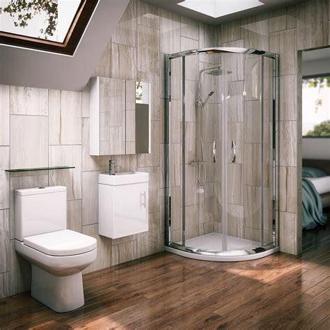 newark quadrant shower enclosure en suite set