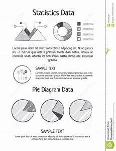 Statistics Data Pie Diagram Vector Illustration Stock