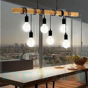 Suspension Design Salon : design pendel lampe k chentisch beleuchtung holzbalken b ro decken h nge leuchte ebay ~ Melissatoandfro.com Idées de Décoration