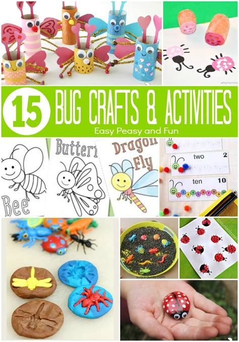 bug crafts  activities easy peasy  fun