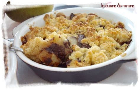 cuisine suedoise crumble poire chocolat de c lignac la cuisine de mimine