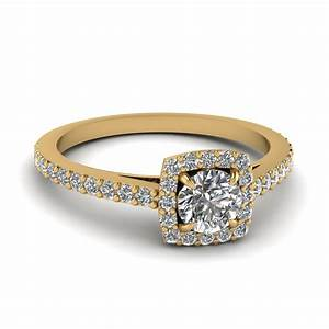 050 carat diamond petite halo engagement ring in 14k With wedding rings gold with diamonds