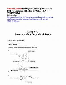 Solutions Manual For Organic Chemistry Mechanistic