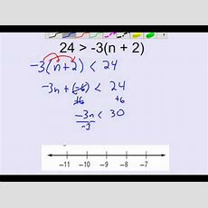 Solving Multistep Inequalities With Distributive Property Youtube