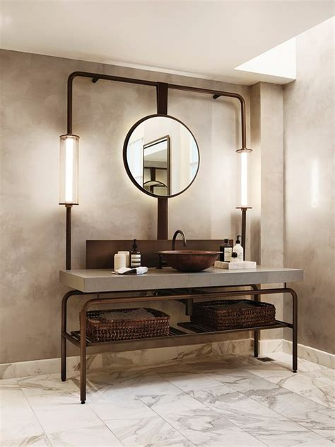 diy industrial bathroom mirror 32 trendy and chic industrial bathroom vanity ideas digsdigs