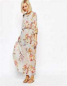 Robe Longue Style Boheme : maxi robe fleurs style boh me ~ Dallasstarsshop.com Idées de Décoration
