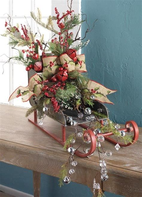 raz christmas sleigh natural  natural