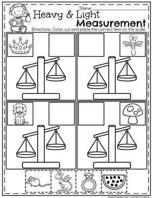 measurement worksheets planning playtime