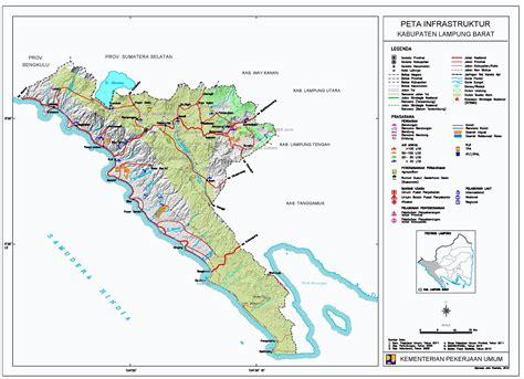 peta kota peta kabupaten lampung barat