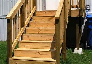 Wooden, Stairs, For, Mobile, Home