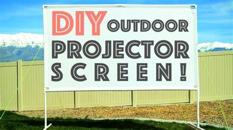 diy outdoor projector screen diy nils