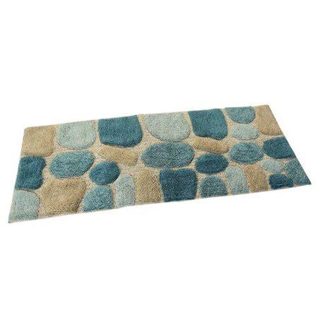 pebbles bath rug runner khaki walmartcom