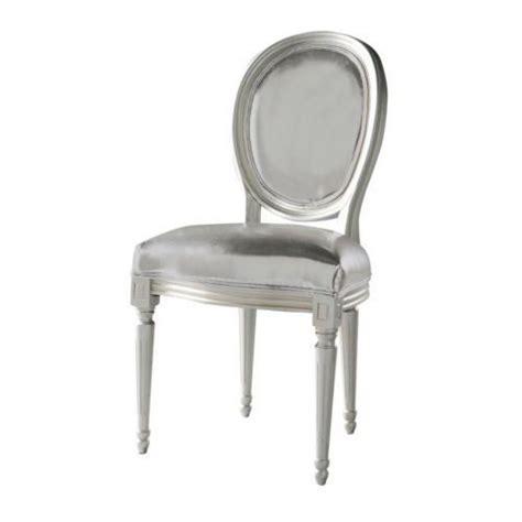 chaise argent louis chaise medaillon maisons du monde
