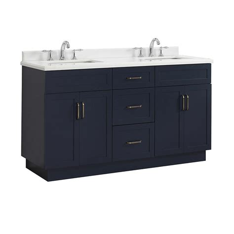 blue vanity top home decorators collection lincoln 60 in w x 22 in d