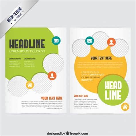 Yellow Brochure Design Vector Millions Vectors 1000 Ideas About Vector Photo On