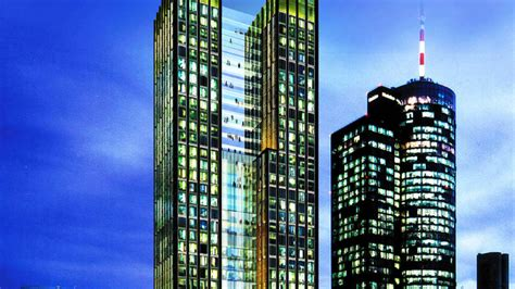 neues hochhaus im bankenviertel frankfurt