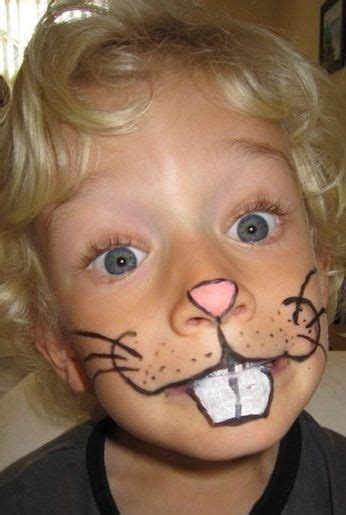 diy rabbit face paint face painting pinterest