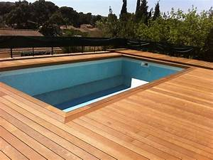 creation et pose de tour de piscine en bois a plan de With tour de piscine en bois