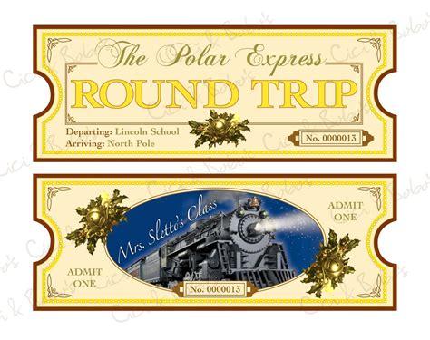 polar express ticket template printable polar express