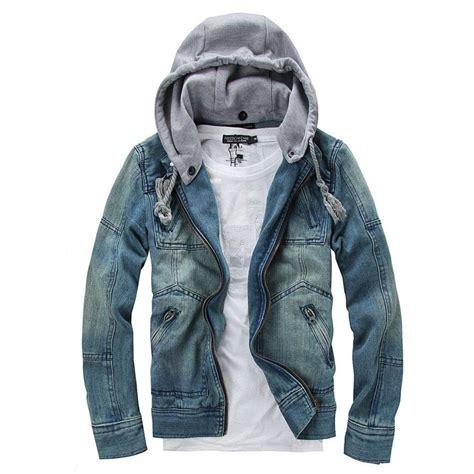 jaket guess denim jacket hooded jean jackets streetwear slim fit