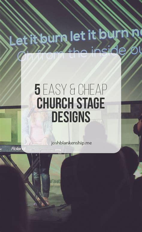 simple  cheap church stage designs church