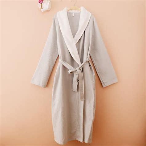 robe de chambre coton robe de chambre nid d 39 abeille coton eté femme grise