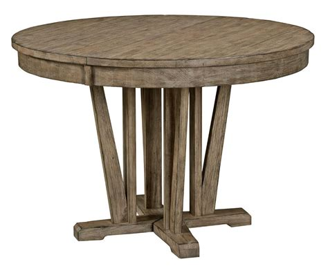 circle farmhouse table rustic weathered gray dining table with extension 2210