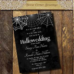 Printable halloween wedding invitation hallowedding for Free printable gothic wedding invitations
