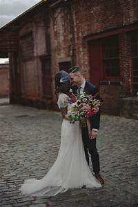 an modern wedding at the factory in paterson