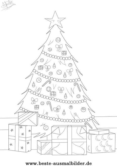 weihnachtsbaum ausmalbild kostenlose ausmalbilder fuer kinder