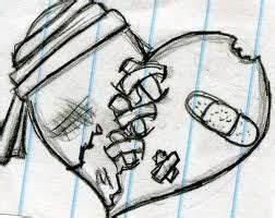 Gallery For > Pretty Broken Hearts Drawings | random ...