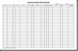 Vehicle Inventory Sheet