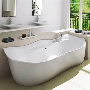 Robinet Baignoire Ilot : baignoire lot murale 205 x 88 cm baignoire solid surface ~ Nature-et-papiers.com Idées de Décoration