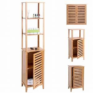 Badezimmer Regal Bambus : badezimmer set narita badschrank badregal standregal mit staufach bambus ebay ~ Whattoseeinmadrid.com Haus und Dekorationen