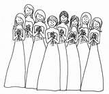 Druhny Hochzeit Malvorlagen Honneur Demoiselles Kindertisch Malbuch Melinda Gastgeschenke Malbögen Bruiloft Kolorowanka Coloringfolder sketch template