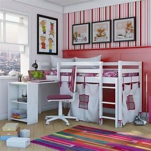 Chambre Fille Petit Espace : lit mezzanine enfant 25 belles id es gain d 39 espace ~ Premium-room.com Idées de Décoration