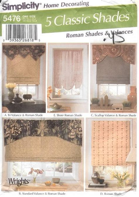Sewing Patterns For Drapes - simplicity window treatment covering curtains drapes home
