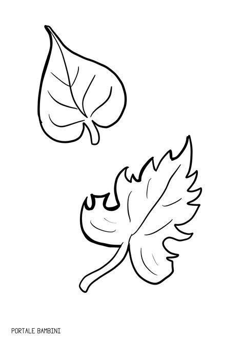 i da colorare foglie da colorare portale bambini