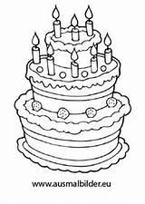 Coloring Birthday Cake Clip Geburtstagstorte Ausmalbild Bilder Geburtstag Ausmalbilder Von Drawing Cameo Silhouette Pages Ausmalen Zum Gemerkt Eu sketch template