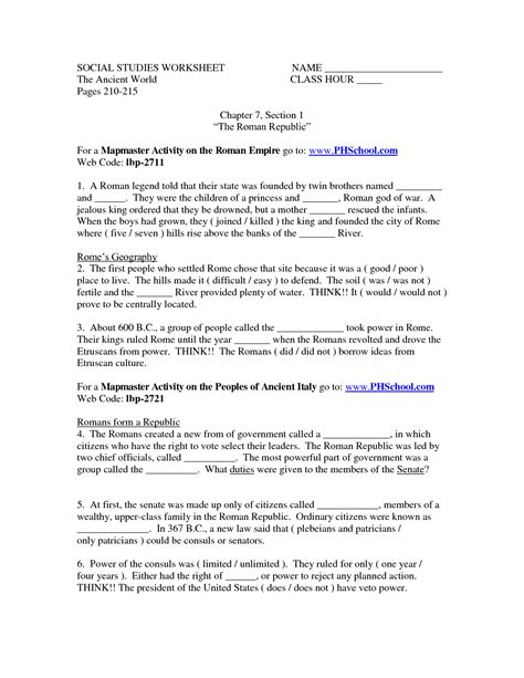 social studies worksheets for 3rd graders