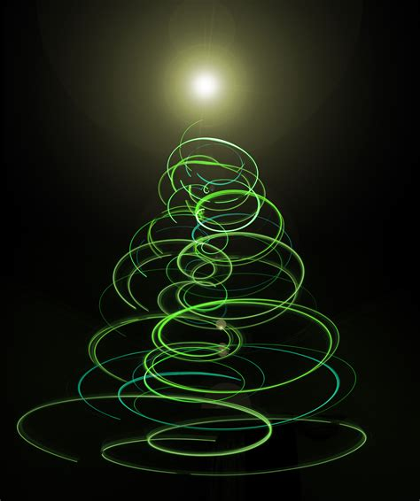 photo of abstract green christmas tree light free