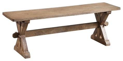 Small Chamonix Bench, Rustic Mango Gray Wash Rustic
