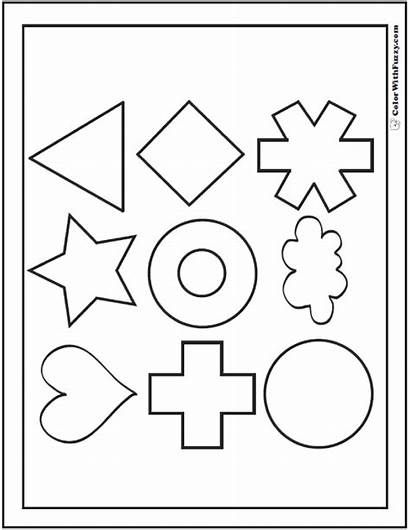Coloring Shape Pages Circles Printable Squares Triangles