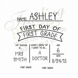 first day of school template word printable back to With first day of school sign template