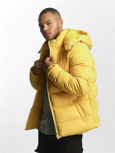 classics hooded boxy puffer jaune homme veste